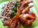 Moroccan Shrimp with Hearty Grain Pilaf
